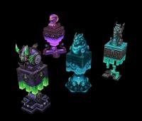几个玉玺3D模型 手绘3D模型 质量杠杠的。