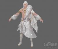 帅气的古装男角色模型 游戏美术资源