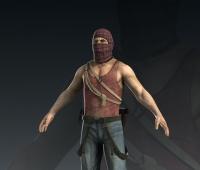 写实男人3D模型 蒙面恐怖分子3D游戏角色模型