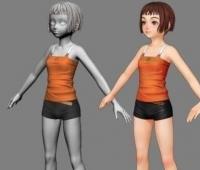 可爱女孩 3D模型