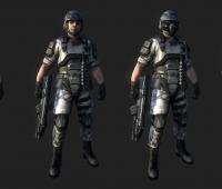 特种兵 机动部队 士兵游戏人物模型 免费下载