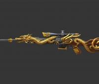 黄金龙纹半自动狙击步枪