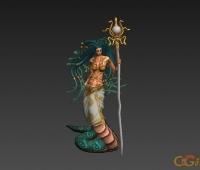 怪物模型 海祭祀 CG模型