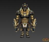 怪物模型 黑虎战士 3d模型