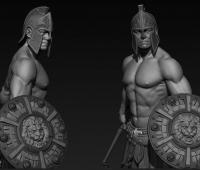 游戏用的一套男性高模角色模型