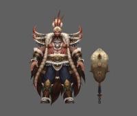 武侠 仙侠 boss 部落 酋长 首领 男 非常不错的模型参考