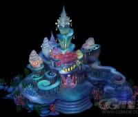 海底城堡3D游戏场景建筑模型
