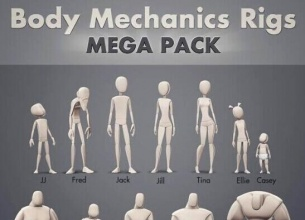 MAYA12种人物类型绑定模板 Gumroad - Body Mechanic Rigs Mega Pack 1.1