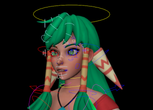 Feena worrier girl rigged and textured